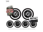 Aurora Instruments GARFE8 Gauge Face Set SAE American Classic Black IIII Street Set High RPM Race Fast