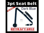 UNIVERSAL 3 POINT RETRACTABLE AUTO CAR SEAT BELT SHOULDER ADJUSTABLE Dark Blue new lap in box adjustable 3 point extender safety point retract harness modern ca