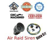 Trigger Horns Siren Horn Kit 1042231 1975 Jeep CJ6 Air Raid Siren Horn Kit w/ Relay, Harness & Breaker driven scream