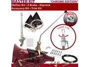 American Shifter Company ASCS1C5G42N1C TH400 Shifter Kit 16 E Brake Cable Clamp Clevis Trim Kit Dipstick For F2C59