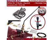 American Shifter Company ASCS2B5G42Q1M TH400 Shifter Kit 16 E Brake Cable Clamp Clevis Trim Kit Dipstick For E70FB