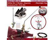 C4 Shifter Kit 16 E Brake Cable Clevis Trim Kit Dipstick For F20D0 cortina comet mercury falcon cougar maverick torino granada capri ranchero fairlane monarch l