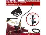 American Shifter Company ASCS2B7G41F1C TH400 Shifter Kit 23 Swan E Brake Cable Trim Kit Dipstick For D2CFB