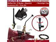 American Shifter Company ASCS2B3F32L1D FMX Shifter Kit 10 E Brake Cable Clevis Trim Kit Dipstick For E3216