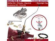 American Shifter Company ASCS2C7G41M1M TH400 Shifter Kit 23 Swan E Brake Cable Clevis Trim Kit Dipstick For D2C30