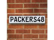 PACKERS48 NFL Green Bay Packers White Stamped Street Sign Mancave Wall Art street sign rd parkway embossed dr court avenue lane custom reflective traffic sign r
