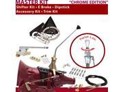 American Shifter Company ASCS2C4G41Q1C TH400 Shifter Kit 12 E Brake Cable Clamp Clevis Trim Kit Dipstick For CDA8D