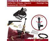 American Shifter Company ASCS1B1G31J1D 4L80E Shifter Kit 6 E Brake Cable Clamp Trim Kit Dipstick For D464A