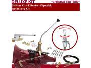 C4 Shifter Kit 12 E Brake Cable Clamp Clevis Dipstick For CCE43 monarch thunderbird falcon montego maverick comet f-series torino ford cortina zephyr cougar fai