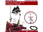 American Shifter Company ASCS1C1G41L1C TH400 Shifter Kit 6 E Brake Cable Clevis Trim Kit Dipstick For D4714