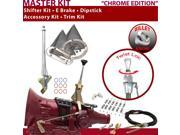 American Shifter Company ASCS2C1G42N1L TH400 Shifter Kit 6 E Brake Cable Clamp Clevis Trim Kit Dipstick For E037B