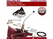 C4 Shifter Kit 12 E Brake Cable Clamp Clevis Trim Kit For F052F torino zephyr mercury cougar mustang monarch capri ltd fairlane f-series cortina ranchero maveri