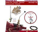 American Shifter Company ASCS2C3G41D1H TH400 Shifter Kit 10 E Brake Cable Trim Kit Dipstick For CBFE7