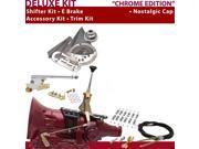 C4 Shifter Kit 6 E Brake Cable Clamp Trim Kit For C7DB1 lincolns cougar torino granada ford fairlane f-series capri ranchero mustang comet maverick ltd fairmont
