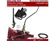 American Shifter Company ASCS2B7G41E0D TH400 Shifter Kit 23 Swan E Brake Cable Trim Kit For D2C69