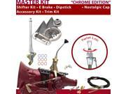 American Shifter Company ASCS1C2G41K1M TH400 Shifter Kit 8 E Brake Cable Clevis Trim Kit Dipstick For D6228