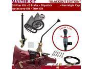 American Shifter Company ASCS1B4F31G1M FMX Shifter Kit 12 E Brake Cable Clamp Trim Kit Dipstick For D9008