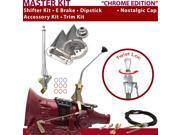 C4 Shifter Kit 10 E Brake Cable Trim Kit Dipstick For F6E9E ford falcon granada comet monarch bronco capri cortina mustang lincolns zephyr mercury maverick tori