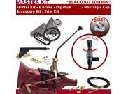 American Shifter Company ASCS1B4F32F1M FMX Shifter Kit 12 E Brake Cable Trim Kit Dipstick For F0A24