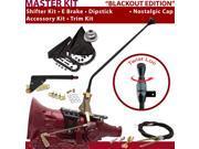 American Shifter Company ASCS1B6G41F1D TH400 Shifter Kit 23 E Brake Cable Trim Kit Dipstick For DCEF0