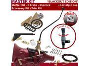 C4 Shifter Kit 23 Swan E Brake Cable Clamp Clevis Trim Kit Dipstick For F57B9 maverick mercury mustang ford granada ltd thunderbird torino f-series cortina falc