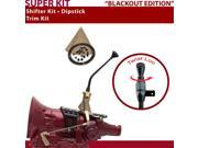 American Shifter Company ASCS1B3F31X1E FMX Shifter Kit 10 Trim Kit Dipstick BLK Push Btn TN Boot Ringed Knob For D74EF