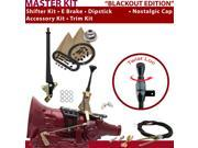American Shifter Company ASCS1B1F31K1H FMX Shifter Kit 6 E Brake Cable Clevis Trim Kit Dipstick For D3F09