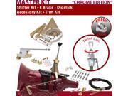 C4 Shifter Kit 6 E Brake Cable Clamp Clevis Trim Kit Dipstick For F7F25 torino cortina falcon monarch ranchero lincolns zephyr granada fairmont ford cougar bron