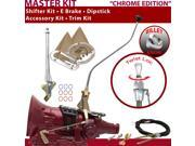 American Shifter Company ASCS1C7G42E1G TH400 Shifter Kit 23 Swan E Brake Cable Trim Kit Dipstick For F624F