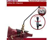 American Shifter Company ASCS1B5F32X1X FMX Shifter Kit 16 Dipstick BLK Push Btn Billet Knob For F24CA