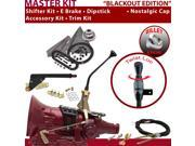 American Shifter Company ASCS2B3G62F1M TH350 Shifter Kit 10 E Brake Cable Trim Kit Dipstick For E3E66 chevy chevelle gm caprice truck van blazer monte carlo cam