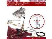 American Shifter Company ASCS1C1G21Q1M 4L60E Shifter Kit 6 E Brake Cable Clamp Clevis Trim Kit Dipstick For D435D
