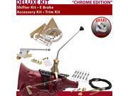 C4 Shifter Kit 12 E Brake Cable Clamp Trim Kit For F0546 granada fairlane fairmont mercury f-series zephyr maverick falcon bronco comet cougar cortina ltd thund