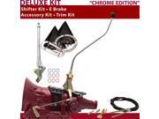 American Shifter Company ASCS2C7G41E0C TH400 Shifter Kit 23 Swan E Brake Cable Trim Kit For D2B5A