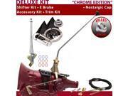 C4 Shifter Kit 23 E Brake Cable Trim Kit For E7E6C comet mercury thunderbird montego ltd bronco falcon ranchero ford cougar monarch mustang cortina granada f-se