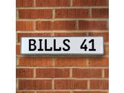 BILLS 41 NFL Buffalo Bills White Stamped Street Sign Mancave Wall Art reflective pkwy man cave court st metal sign pressed metal road cove street license real r