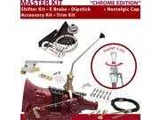 American Shifter Company ASCS2C4F31Q1D FMX Shifter Kit 12 E Brake Cable Clamp Clevis Trim Kit Dipstick For CD219