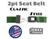 safeTboy Seat Belt New 1012665 1931 - 1959 Chevy 2pt Retro Green Certified Seat Belt certified sparko button