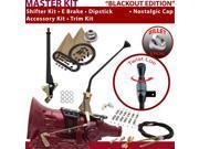 C4 Shifter Kit 12 E Brake Cable Clamp Clevis Trim Kit Dipstick For F0679 thunderbird granada capri fairlane ranchero falcon bronco maverick montego cortina ltd