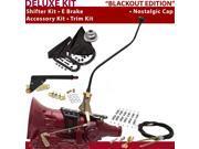 American Shifter Company ASCS1B7G41J0D TH400 Shifter Kit 23 Swan E Brake Cable Clamp Trim Kit For DE98C