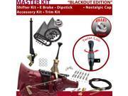 C4 Shifter Kit 6 E Brake Cable Clamp Clevis Trim Kit Dipstick For EB5A0 ranchero ltd torino comet fairlane monarch mercury bronco ford capri f-series falcon zep