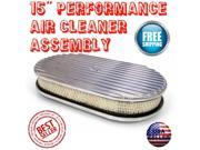 Vintage Parts USA SAQ649974 1955 - 1957 Chevy Bel Air 15 Finned Performance Air Cleaner full holley filter