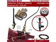 C4 Shifter Kit 23 Swan E Brake Cable Clevis Trim Kit Dipstick For E9A73 comet falcon fairmont montego cougar granada zephyr monarch maverick capri mercury musta