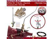 C4 Shifter Kit 23 Swan E Brake Cable Clevis Trim Kit Dipstick For F7E90 comet ford montego mercury falcon ltd f-series capri maverick cortina thunderbird bronco