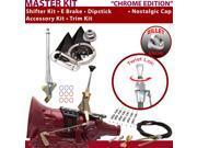 C4 Shifter Kit 6 E Brake Cable Clamp Trim Kit Dipstick For F7F36 fairlane granada cougar cortina falcon f-series ford maverick capri ranchero montego fairmont t