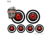 Aurora Instruments GARA100ZEXPACCC Style Kit - SAE Pulsar Red, Black Modern Needles, Black Trim Rings