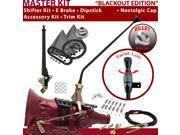 700R4 Shifter Kit 23 E Brake Cable Clamp Clevis Trim Kit Dipstick For F4A63 fleetwood cadillac chevrolet brougham pontiac bravada g series vans c series impala