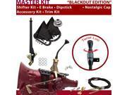 700R4 Shifter Kit 8 E Brake Cable Clevis Trim Kit Dipstick For D6477 buick cadillac caprice roadmaster corvette impala pontiac k series g series vans blazers fi