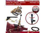 American Shifter Company ASCS1B1F32F1H FMX Shifter Kit 6 E Brake Cable Trim Kit Dipstick For EB92C