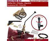700R4 Shifter Kit 12 E Brake Cable Clamp Trim Kit Dipstick For CDDD1 corvette k series surburban 3/4 ton impala chevrolet brougham fleetwood caprice g series va